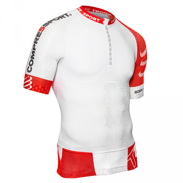 Compressport Trail Running-Shirt V2 - Geschwindigkeit T-Shirt (weiß)